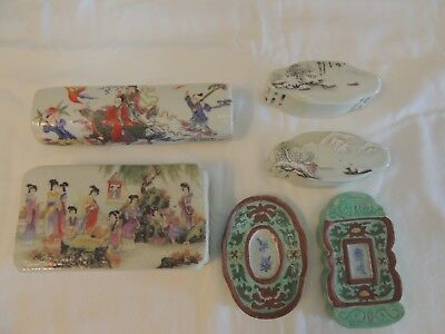 Chinese porcelain famille rose paper weights