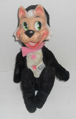 Vintage Hanna Barbera 1959 Knickerbocker Mr. Jinx Stuffed Cat Plush Rubber Face