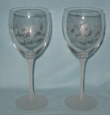 Avon 2 Crystal Hummingbird Water Goblets New