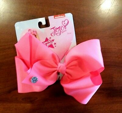 NWT AUTHENTIC SIGNATURE JoJo Siwa LARGE BRIGHT PINK BOW NICKELODEON ~ YOU BE YOU