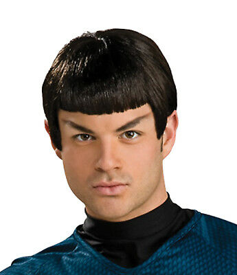 Licensed Star Trek Dr Spock Mens Wig with Pointy Ears Costume Accessory