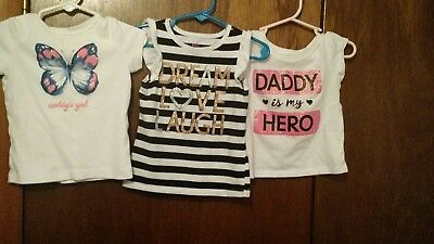 """Toddler T-shirts for girl's, size """"2T"""" buy 3/$5.50!"""