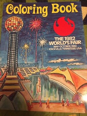 """Worlds Fair Coloring Book"" 1982 World's Fair"