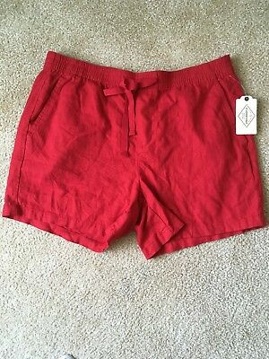 NWT Size (L) - St Johns Bay Red Pull-on Shorts