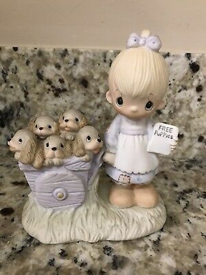 Precious Moments GOD LOVETH A CHEERFUL GIVER E-1378 Great Condition - VERY RARE!