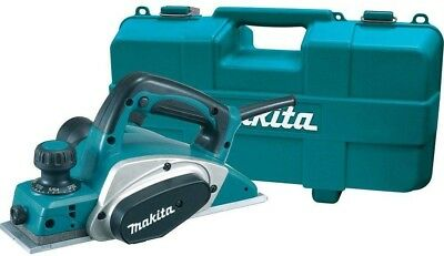 """Makita Corded Planer Kit 6.5A 3-1/4"""" Double-Edged Blade Set, 17000 RPM Hard Case"""