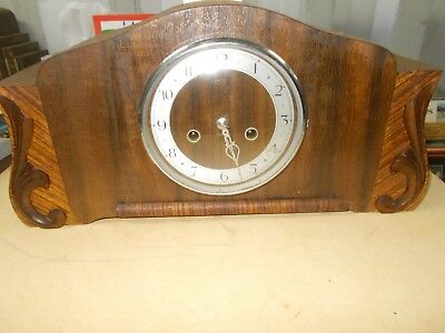 vintage clock , old clock ,mantle clock ,collectable