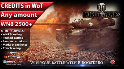 World of Tanks | ANY AMOUNT OF CREDITS ( Not Bonus Code ) WoT