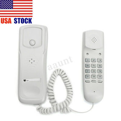 White Wall Mount Home Corded Phone Telephone Business Office Desktop Phone