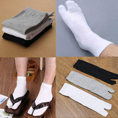 Mens Womens Tabi Socks Split Sandals Two Toe Japanese Kimono Geta Flip Flop New