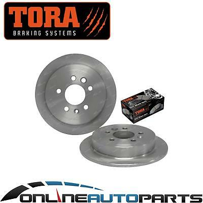 2 Rear Disc Brake Rotors Ford AU 9/1998 1999 3/2000 Series 1 with Disc Pads Set