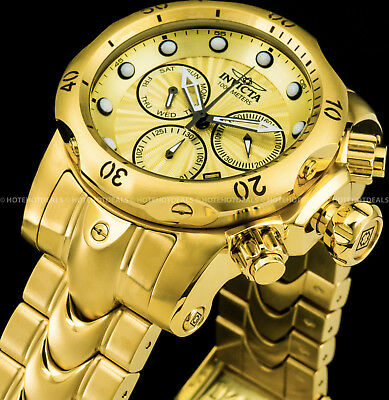 Invicta Mens Venom Swiss Ronda Z60 Chronograph Gold Plated 1000MT Bracelet Watch