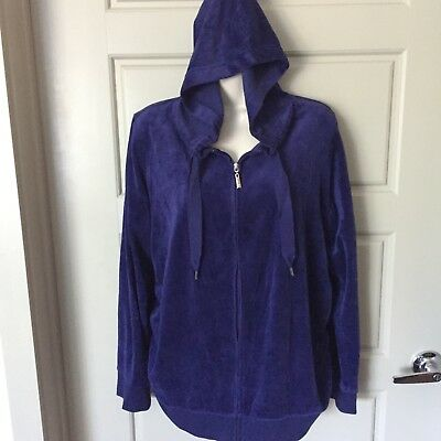 WOMENS MATERNITY JACKET Solid Blue Size Large MOTHERHOOD Zip up Hooded