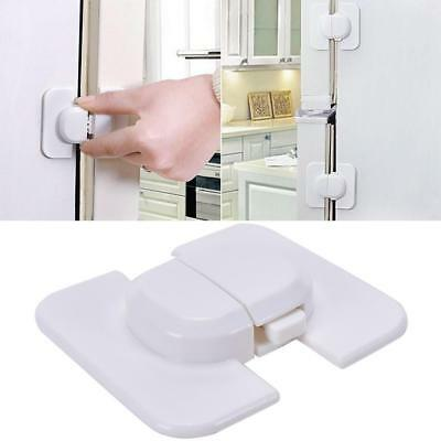 Kids Baby Safety Door Lock Proof Cupboard Fridge Cabinet Prevent Clamping A+