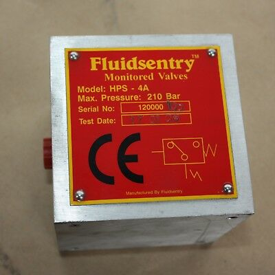 Fluidsentry SMC HPS-4A Hydraulic Safety Pressure Switch Monitor control 210 bar