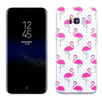 iProtect Protective Case Samsung Galaxy S8 Plus TPU Flamingo Pink White