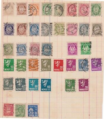 (K76-13) 1926-30 Norway 39 stamps value to 100 ORE (M)