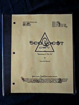 SeaQuest DSV Production SOMETHING IN THE AIR  Bible 126pgs Storyboards Script