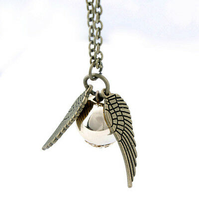 Harry Potter Snitch Gold Wings The Golden Pendant Unisex Magic Charm Necklace