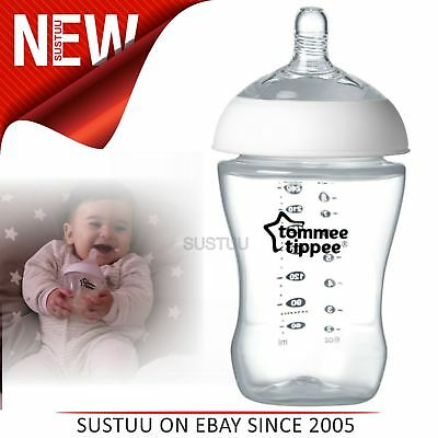 Tommee Tippee Ultra Baby Feeding Bottle 260ml│Breast-like Shape│Natural Latch