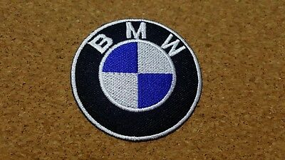 Bmw Badge Car Sports Racing Motor Power Iron Patch Sew Embroidered Logo Emblem