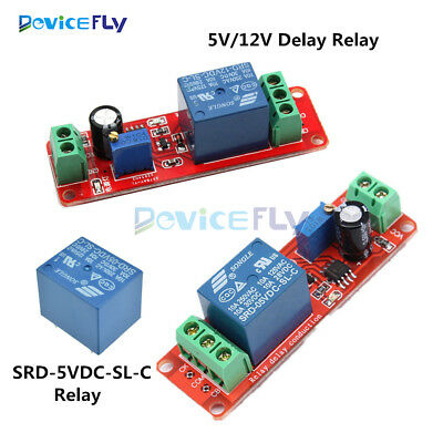 NE555 5V 12V Delay Relay Timer Switch Adjustable Module 0-10 Second Oscillator