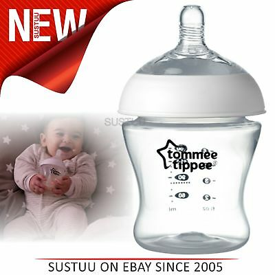 Tommee Tippee Ultra Baby Feeding Bottle 150ml│Breast-like Shape│Natural Latch
