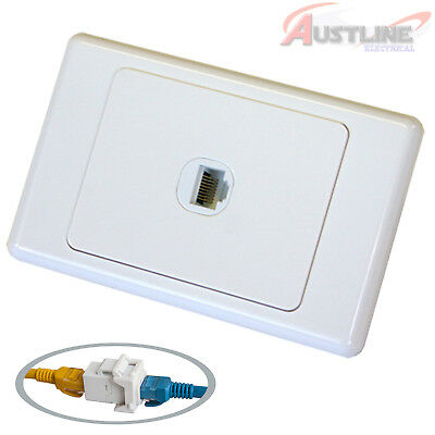 RJ45 Cat6 1Port Network LAN coupler Jack +1Gang DATAMASTER® Wall Plate dw1c6ff