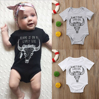 Infant Toddler Baby Boy Girl Gypsy Romper Deer Bodysuit Jumpsuit Clothes Outfits