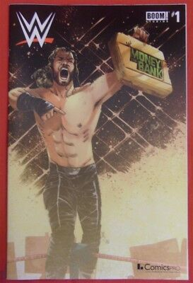 Wwe 1 Money Bank Seth Rollins Boom Comicspro Henderson Variant Comic 2017 Nm