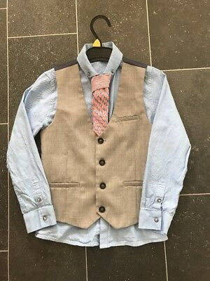 Boys smart shirt, waistcoat & tie set - Next Signature age 7 - summer wedding