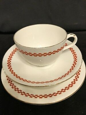 Rare Shelley Art Deco  Style Trio Cup Saucer Plate C.10 81615