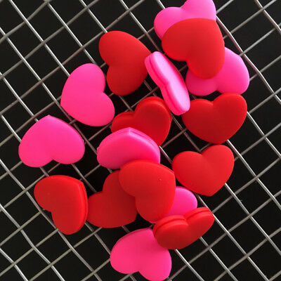 1PC Tennis Racket Shock Absorber Dampener Love Heart Shaped Vibration Silicone