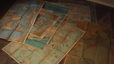 National Geographica Vintage Wall Maps Bundle - 8 Of - 1930's & 40's