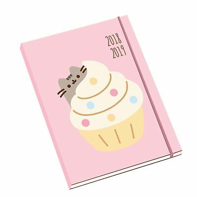 A5 Pusheen Academic Diary 2018-2019 Mid Year Licensed Hard Back Cat Cake