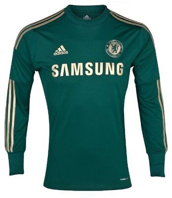 BNWT Official Adidas Chelsea Football Club 2012/14 Goalkeeper Long Sleeve Shirt