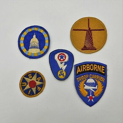 Five Army Air Corps - Air Force vintage shoulder patches   (537)