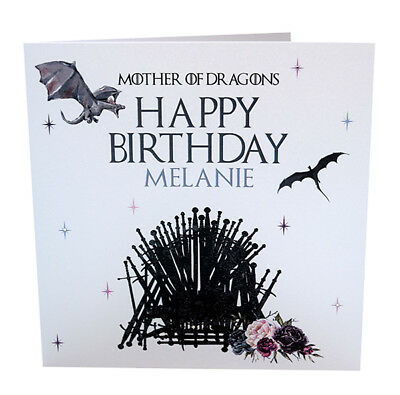 Personalised Handmade Game Of Thrones Birthday Card Son Brother