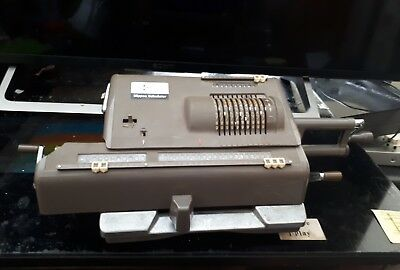 Vintage Nippon & Minerva HL-21 Busicom Pinwheel Mechanical Calculator