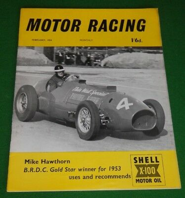 MOTOR RACING magazine, February 1954 - Casablanca 12 hours, Mike Hawthorn