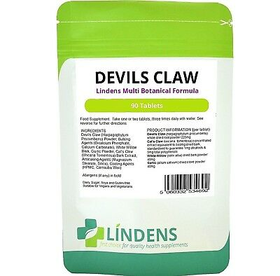 Devils Claw Formula joint and back Tablets (90 pack) Arthritis Lindens