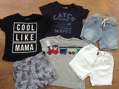 100% Next Baby Boys Small Spring Summer Bundle/outfits  6-9Mths Tops Shorts