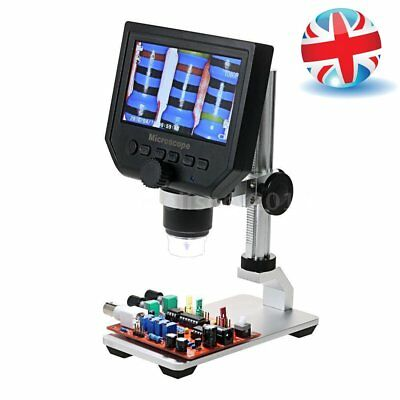 "HD 600X 4.3"" LCD 3.6MP CCD Electronic Digital Video Microscope LED Microscope UK"