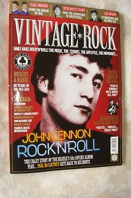 """VINTAGE ROCK"" latest issue May/June 2018 JOHN LENNON cover, Everlys, Cliff etc"