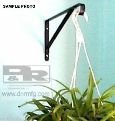 "New 2 Pcs 12"" White Flower Basket Hangers Brackets For Hanging Garden Plants"