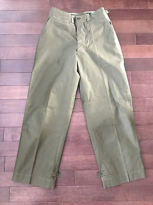 Deadstock Us Army M43 Cotton Button Fly Trousers 1940S Field Pants Wwii Ww2