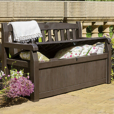 Outdoor Storage Bench Garden Pool Deck Box Weatherproof Patio Furniture New & OUTDOOR STORAGE BENCH Garden Pool Deck Box Weatherproof Patio ...