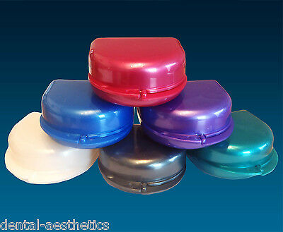 Retainer Case ~ Deep Gumshield Box, Denture Mouthguard Brace Dental Storage Case