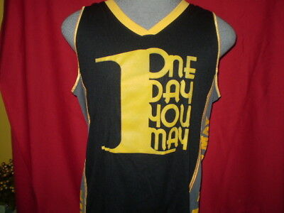 Rich Piana BASKETBALL STYLE  JERSEY 1 Day You May Black/Yellow NEW