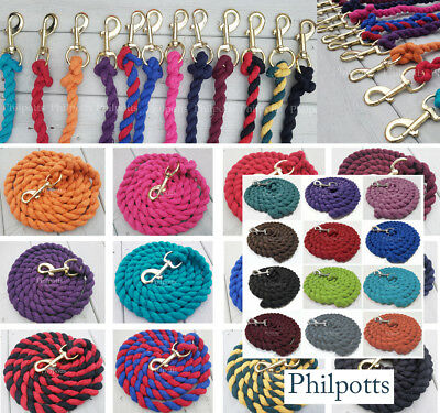 HORSE, PONY, DOG, LEAD ROPE Leadrope, GOLD or SILVER clip, Buy2+SAVE5%  FREE P&P
